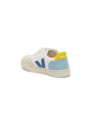 Detail View - Click To Enlarge - VEJA - V-12' Logo Print Double Velcro Strap Toddler Leather Sneakers
