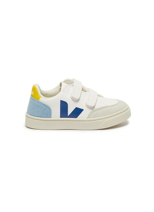 Main View - Click To Enlarge - VEJA - V-12' Logo Print Double Velcro Strap Toddler Leather Sneakers