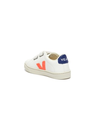 Detail View - Click To Enlarge - VEJA - Small Esplar' double velcro toddler leather sneakers