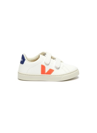 Main View - Click To Enlarge - VEJA - Small Esplar' double velcro toddler leather sneakers