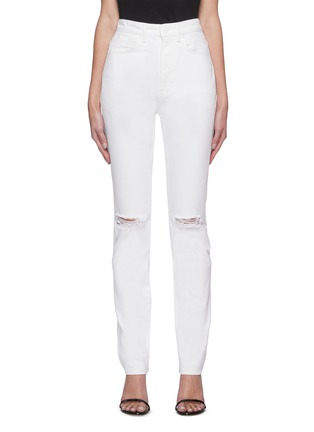 Main View - Click To Enlarge - ALEXANDERWANG - Dipped back high waist jeans