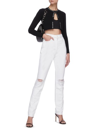 Figure View - Click To Enlarge - ALEXANDERWANG - Dipped back high waist jeans