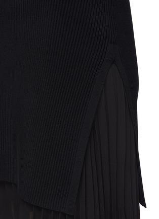 - THEORY - Pleat Bottom Insert Rib Knit Mini Dress