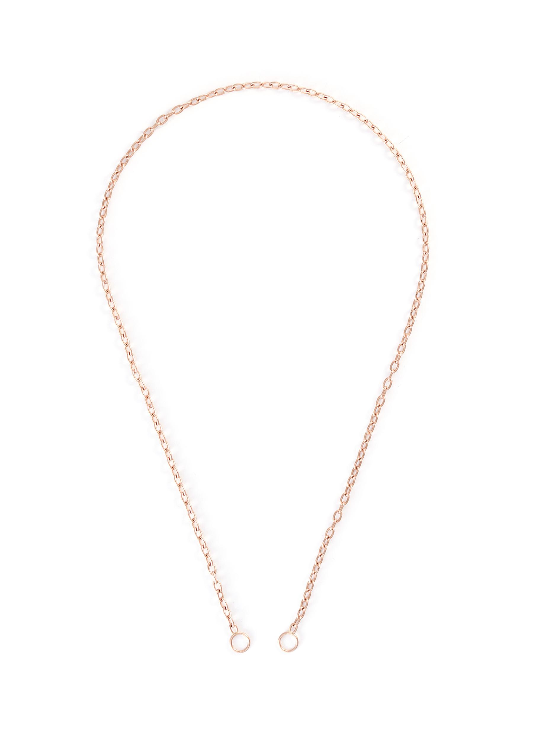 2 loop 14k rose gold pulley chain
