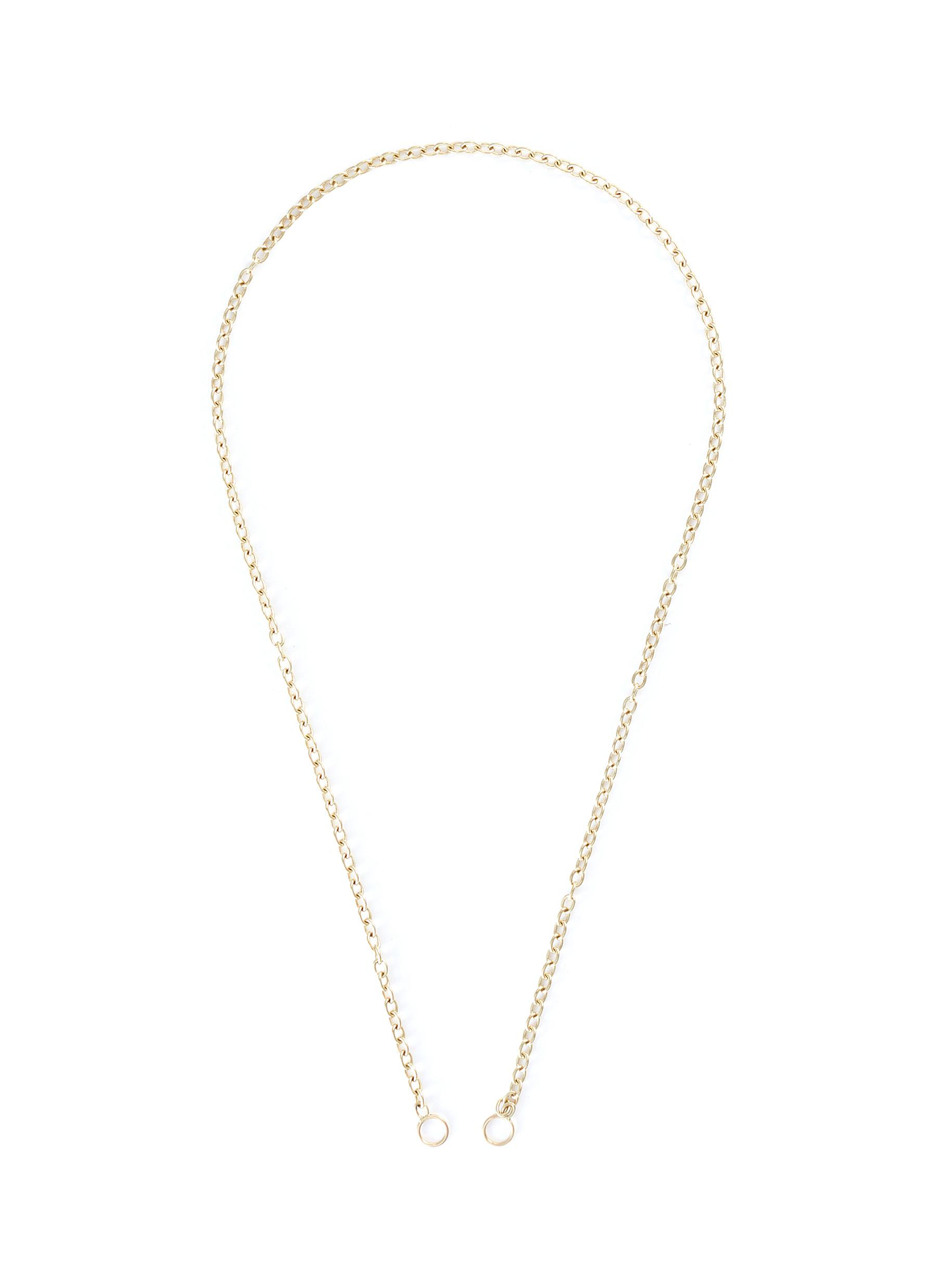 2 loop 14k gold pulley chain