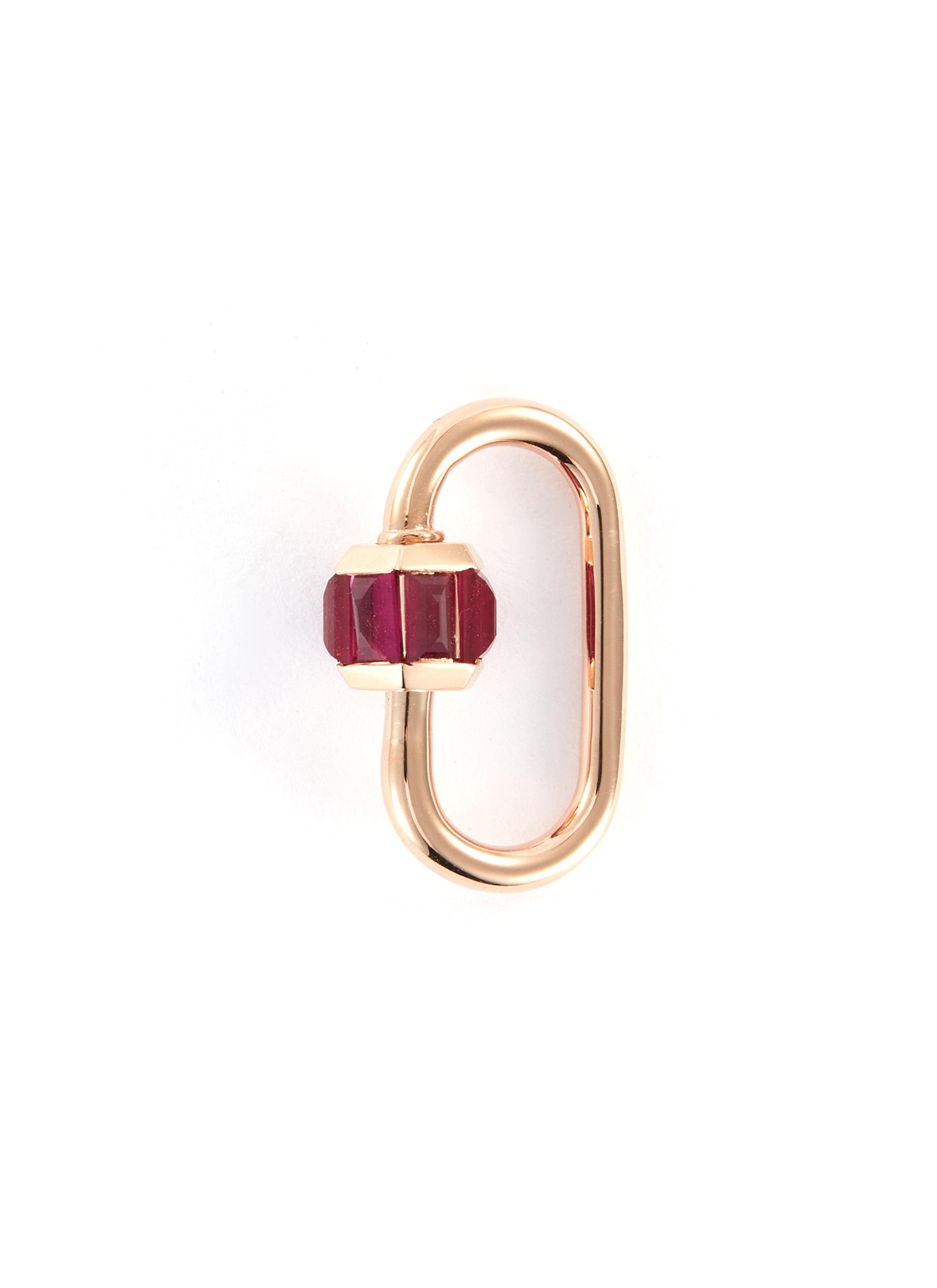 Ruby 14k rose gold baguette medium lock