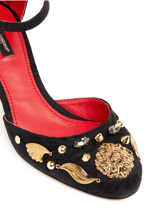 Detail View - Click To Enlarge - Dolce & Gabbana - Brass charm appliqué pumps