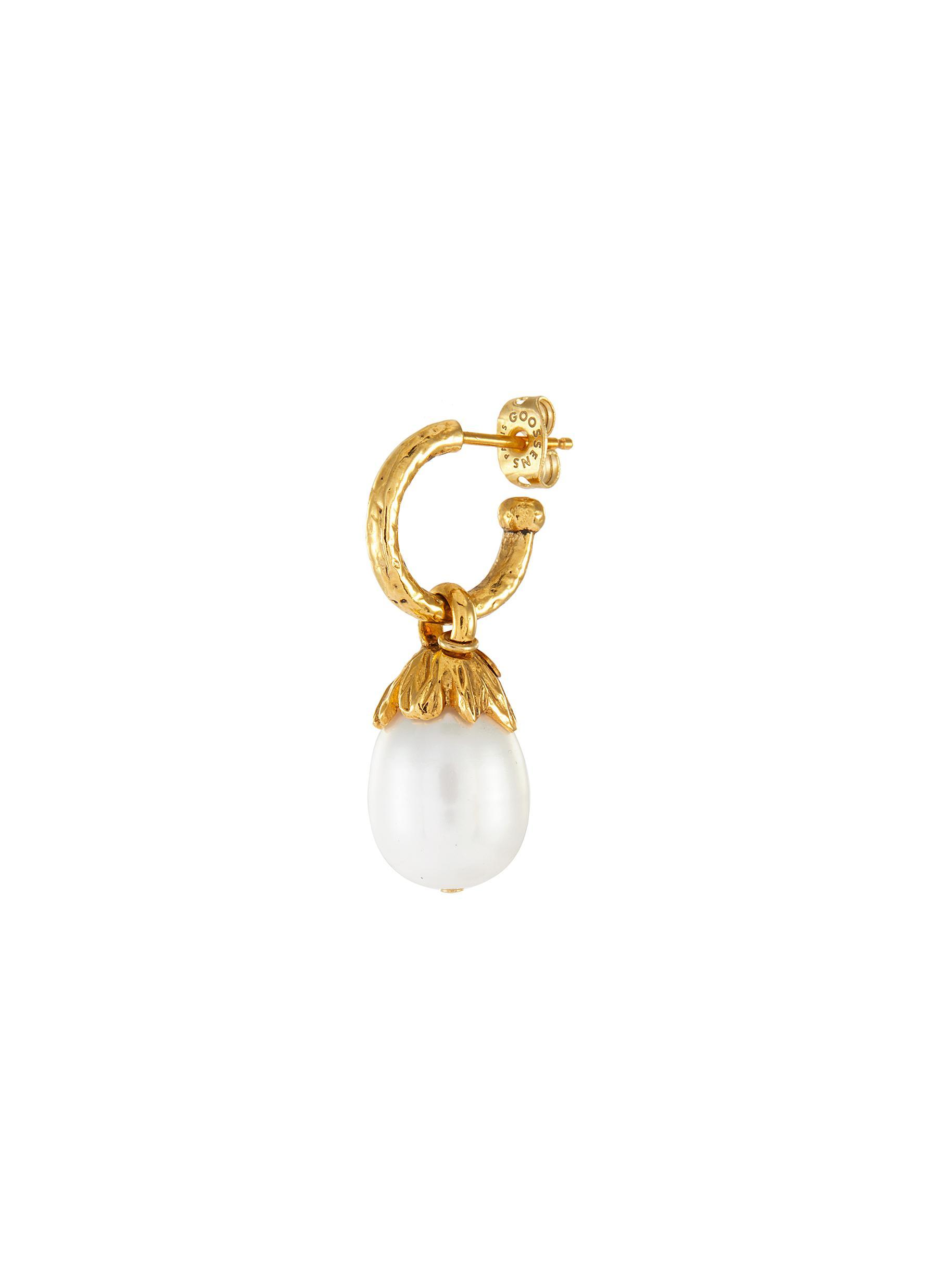 Pearl drop single earring