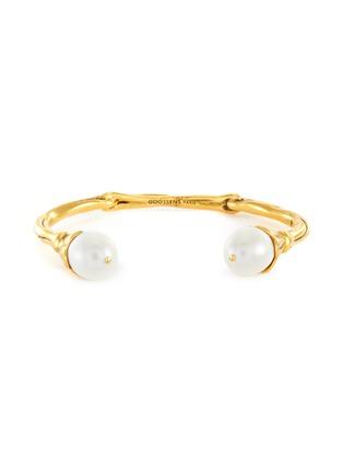 Main View - Click To Enlarge - GOOSSENS - Pearl embellished bracelet