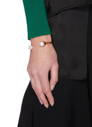 Figure View - Click To Enlarge - GOOSSENS - Pearl embellished bracelet