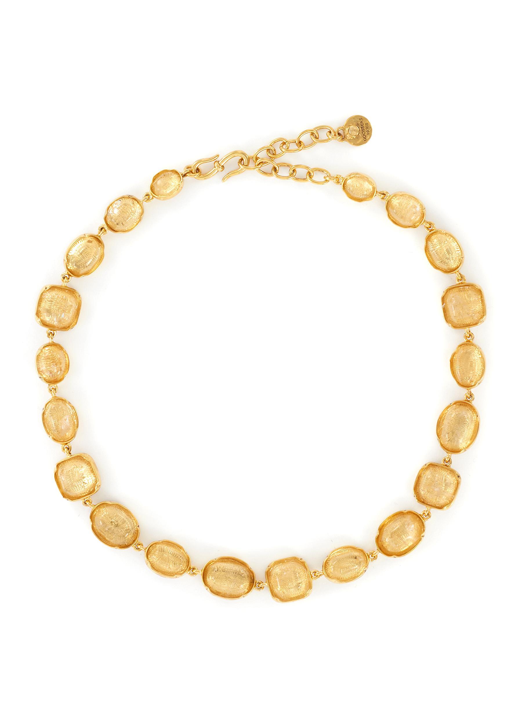 Cabochon charm necklace