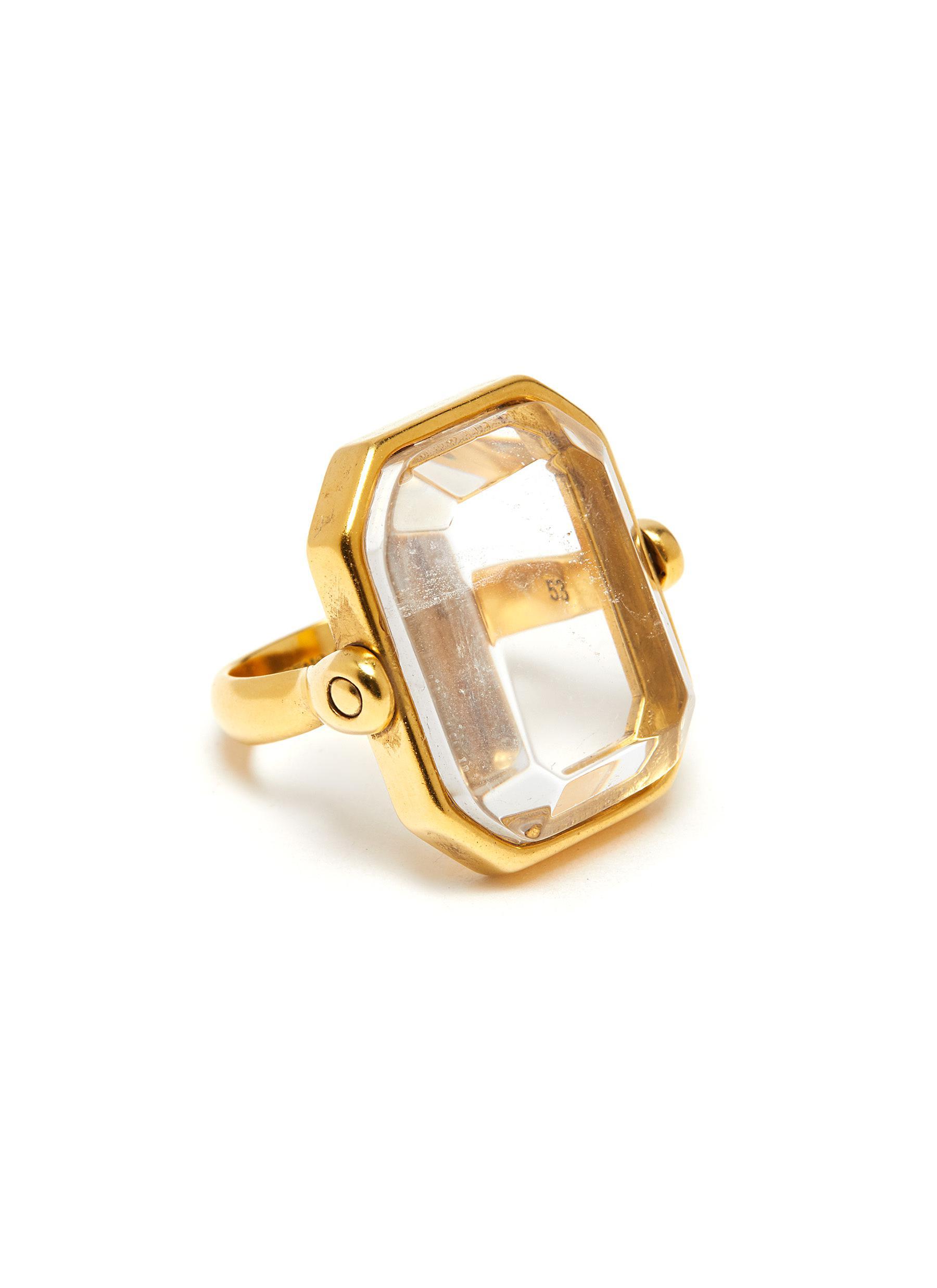 Princess Cut Rhinestone Ring