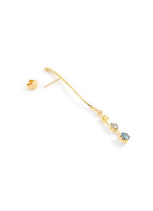 Detail View - Click To Enlarge - YUESPHERE - Ripple' spinel cubic zirconia 18k gold plated sterling silver earrings