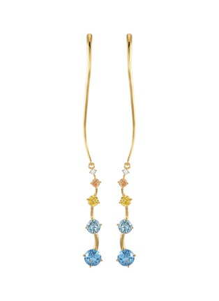 Main View - Click To Enlarge - YUESPHERE - Ripple' spinel cubic zirconia 18k gold plated sterling silver earrings