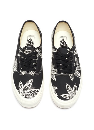 Detail View - Click To Enlarge - VANS - 'Authentic LX' Leaf Graphic Print Low-top Canvas Sneakers