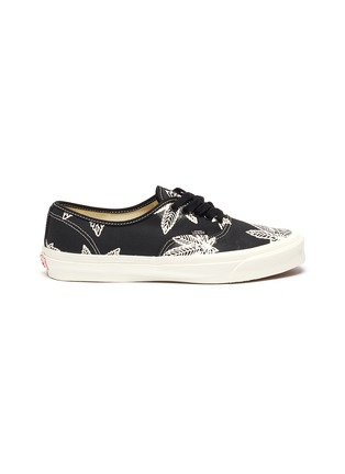 Main View - Click To Enlarge - VANS - 'Authentic LX' Leaf Graphic Print Low-top Canvas Sneakers