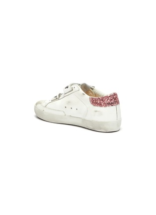Detail View - Click To Enlarge - GOLDEN GOOSE - 'Old School' Glitter Star Motif Distressed Kids Leather Sneakers