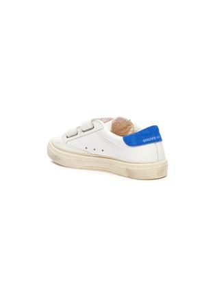 Detail View - Click To Enlarge - GOLDEN GOOSE - 'May School' Contrast Star Motif Heel Tab Leather Kids Sneakers