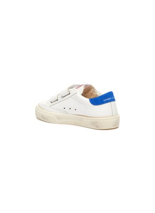 Detail View - Click To Enlarge - GOLDEN GOOSE - 'May School' Contrast Star Motif Heel Tab Leather Toddler Sneakers