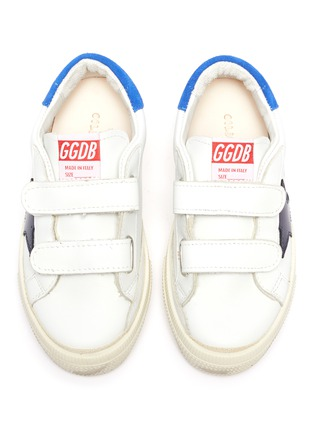 Figure View - Click To Enlarge - GOLDEN GOOSE - 'May School' Contrast Star Motif Heel Tab Leather Toddler Sneakers
