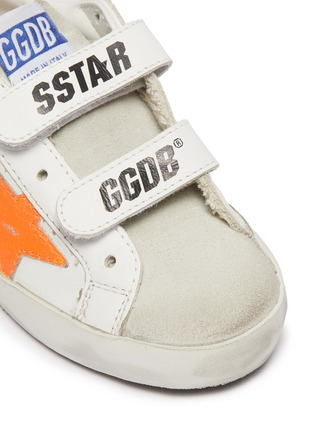 Detail View - Click To Enlarge - GOLDEN GOOSE - Old School' Contrast Star Motif Heel Tab Leather Toddler Sneakers