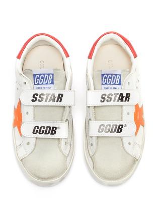 Figure View - Click To Enlarge - GOLDEN GOOSE - Old School' Contrast Star Motif Heel Tab Leather Toddler Sneakers