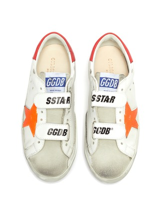 Figure View - Click To Enlarge - GOLDEN GOOSE - 'Old School' Contrast Accent Distressed Kids Leather Sneakers