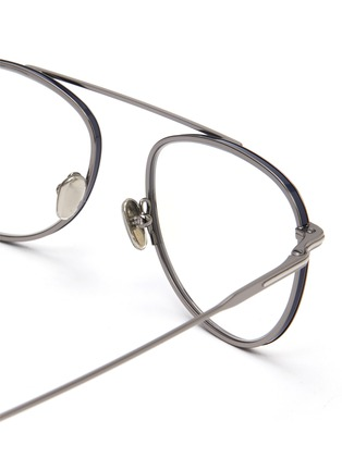 Detail View - Click To Enlarge - TOM FORD - Blue filter metal frame optical aviator glasses