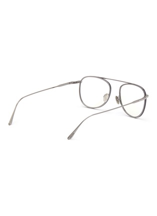 Figure View - Click To Enlarge - TOM FORD - Blue filter metal frame optical aviator glasses