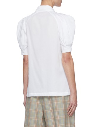 Back View - Click To Enlarge - GABRIELA HEARST - 'Zanetti' Pleated Puff Sleeve Button-down Shirt