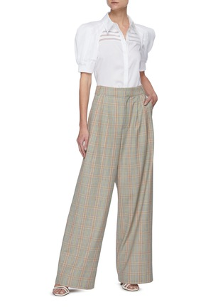 Figure View - Click To Enlarge - GABRIELA HEARST - 'Zanetti' Pleated Puff Sleeve Button-down Shirt