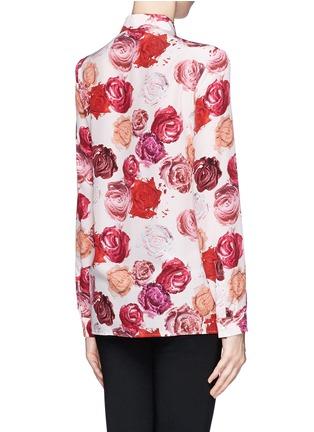 Back View - Click To Enlarge - MSGM - Makeup rose print silk shirt