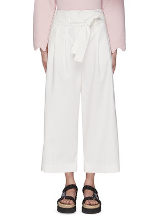 Main View - Click To Enlarge - 3.1 PHILLIP LIM - Belted Crop Wide Leg Pants