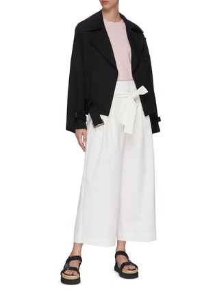 Figure View - Click To Enlarge - 3.1 PHILLIP LIM - Belted Crop Wide Leg Pants