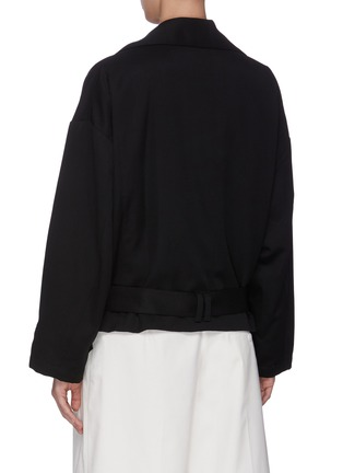 Back View - Click To Enlarge - 3.1 PHILLIP LIM - Belted Wool Trench Coat