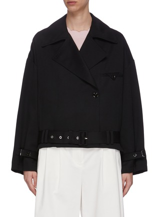 Main View - Click To Enlarge - 3.1 PHILLIP LIM - Belted Wool Trench Coat