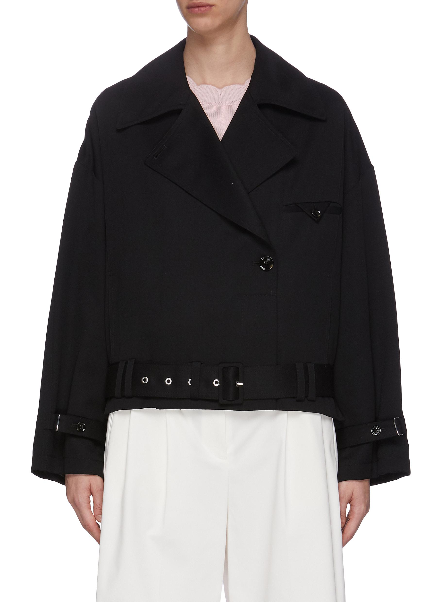 3.1 Phillip Lim BELTED WOOL TRENCH COAT