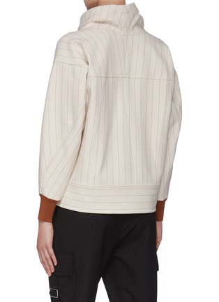 Back View - Click To Enlarge - 3.1 PHILLIP LIM - Side Zip Cowl Neck Rib Cuff Sweater