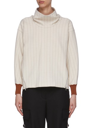 Main View - Click To Enlarge - 3.1 PHILLIP LIM - Side Zip Cowl Neck Rib Cuff Sweater