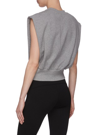Back View - Click To Enlarge - 3.1 PHILLIP LIM - Cinch Waist Sleeveless Cotton Blend Top