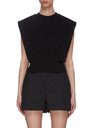Main View - Click To Enlarge - 3.1 PHILLIP LIM - Cinch Waist Sleeveless Cotton Blend Top