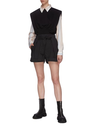 Figure View - Click To Enlarge - 3.1 PHILLIP LIM - Cinch Waist Sleeveless Cotton Blend Top