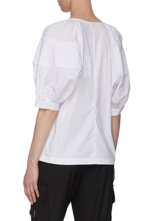 Back View - Click To Enlarge - 3.1 PHILLIP LIM - Puffer Sleeve V-neck Blouse