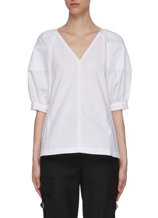 Main View - Click To Enlarge - 3.1 PHILLIP LIM - Puffer Sleeve V-neck Blouse
