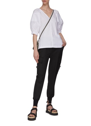 Figure View - Click To Enlarge - 3.1 PHILLIP LIM - Puffer Sleeve V-neck Blouse