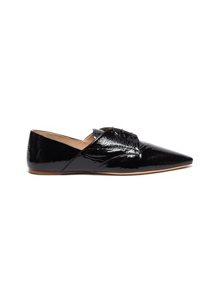 Main View - Click To Enlarge - MIU MIU - Patent leather oxford shoes