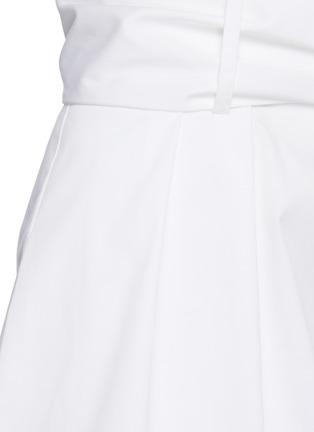 - OSCAR DE LA RENTA - Belted pleat shorts