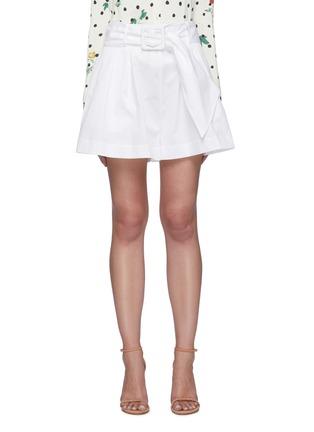 Main View - Click To Enlarge - OSCAR DE LA RENTA - Belted pleat shorts