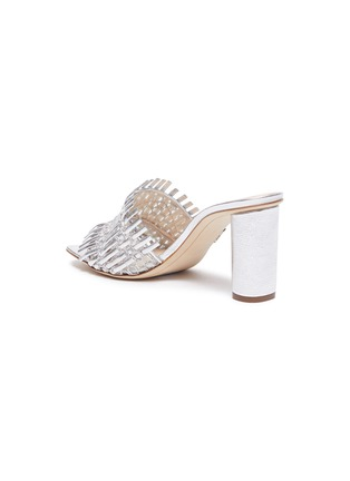 - RODO - Mesh detail woven leather heeled mules