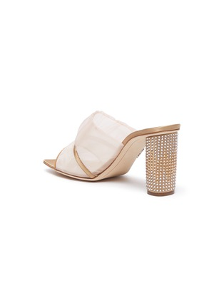 - RODO - Ruched mesh studded heel sandals